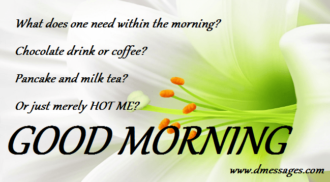 sweet good morning sms