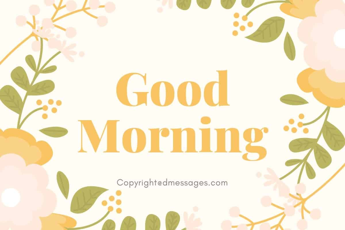 Good Morning Text and SMS