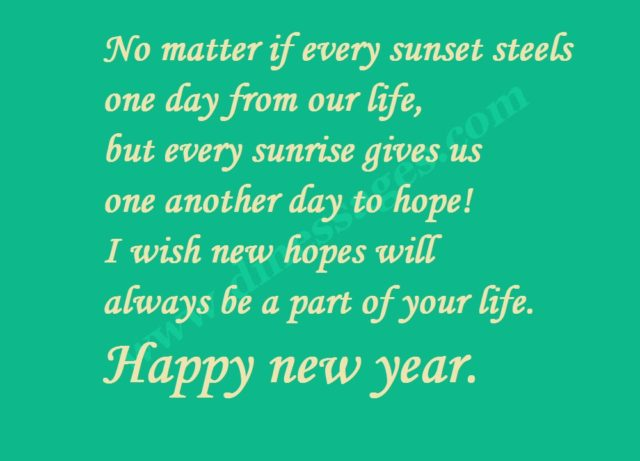 New year messages and images