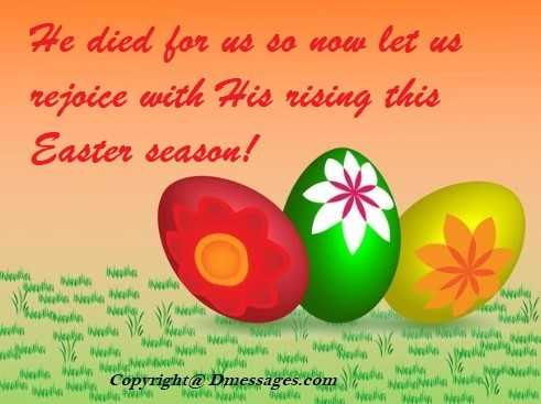 Easter holiday messages