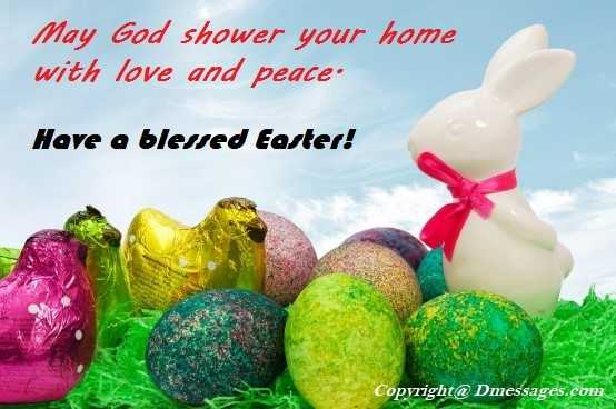 Happy easter love messages