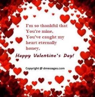 Happy valentine day message in english