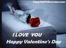 Valentine day sms for her
