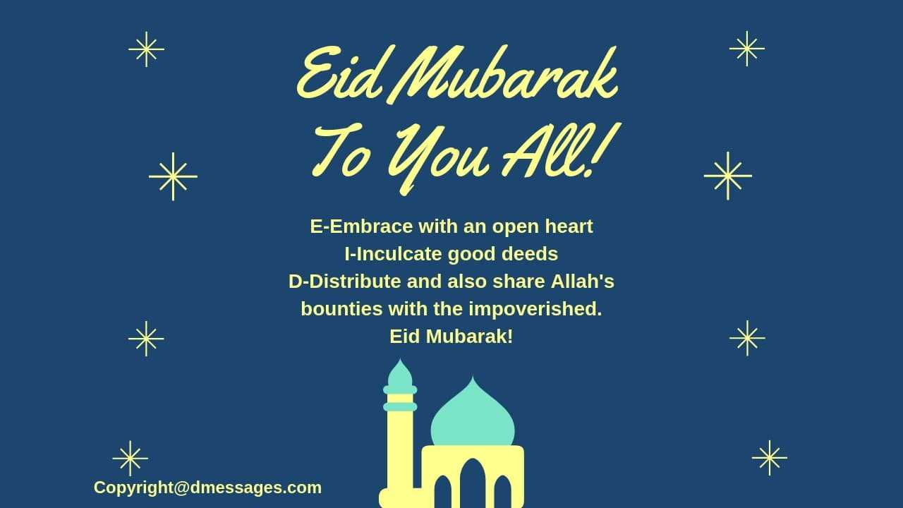 BEST* 50+ Happy Eid Mubarak Wishes Messages, Greetings, Quotes